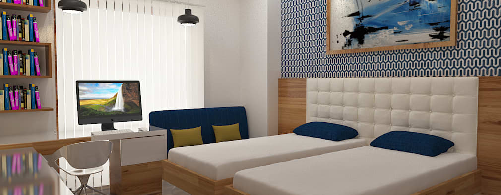 ATS hamlet One, NOIDA: modern Bedroom by Form & Function