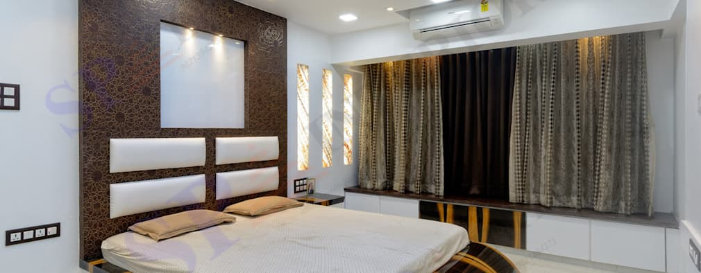 Rikin bhai: modern Bedroom by SP INTERIORS