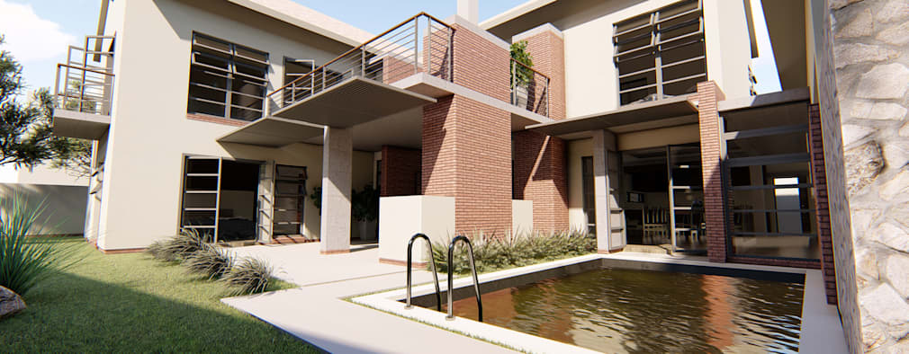 House Dichaba: modern Houses by Property Commerce Architects