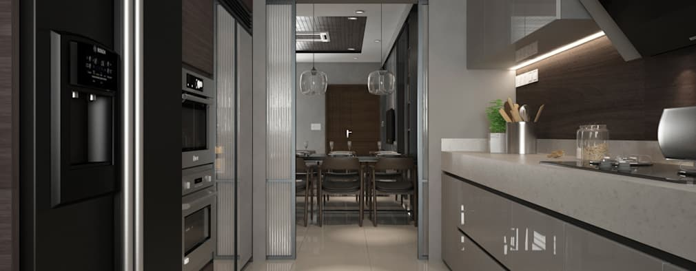 KITCHEN AREA: modern Kitchen by Zeitlus Design