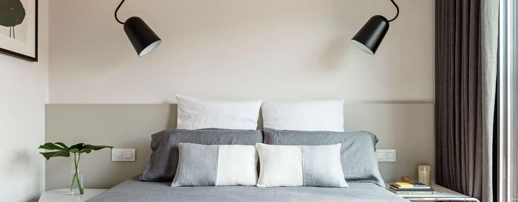 Reforma habitación doble vivienda: Dormitorios de estilo minimalista de Sezam disseny d'Interiors SL