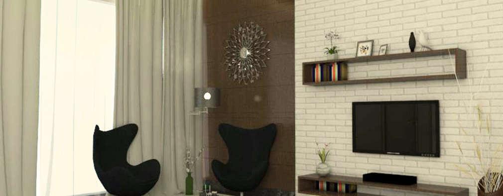 guest bedroom 2: modern Bedroom by URBAIN DEZIN STUDIO