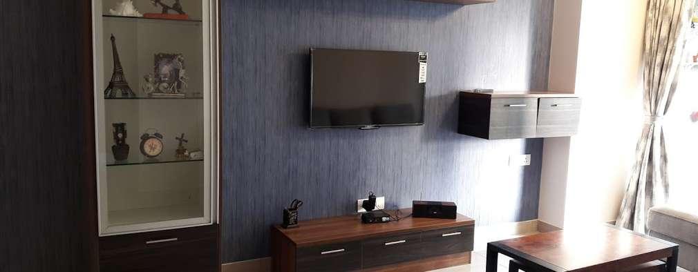 Ghatkopar residence: modern Media room by Rennovate Home Solutions pvt ltd