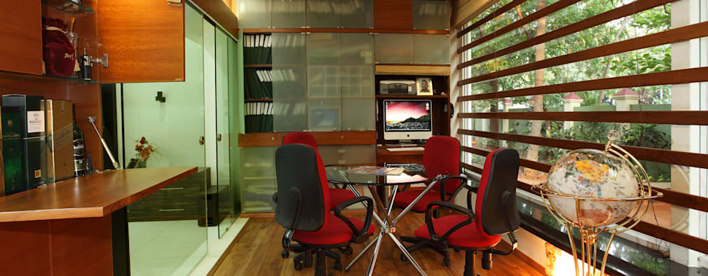 Doshi Residence: modern Study/office by Architecture Continuous