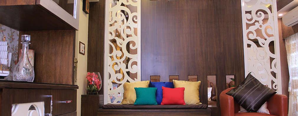 4 BHK Apartment of Mr Sachin Tulsyan Kolkata: modern Living room by Cee Bee Design Studio