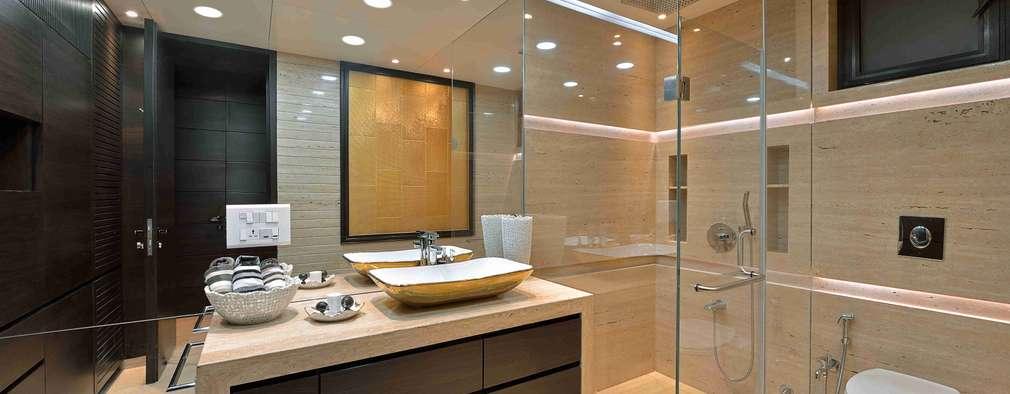 MADHUNIKETAN 10TH FLOOR: modern Bathroom by smstudio