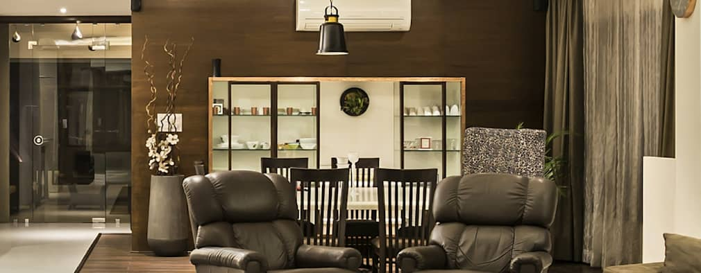 living area and dining area:   by Design Paradigm