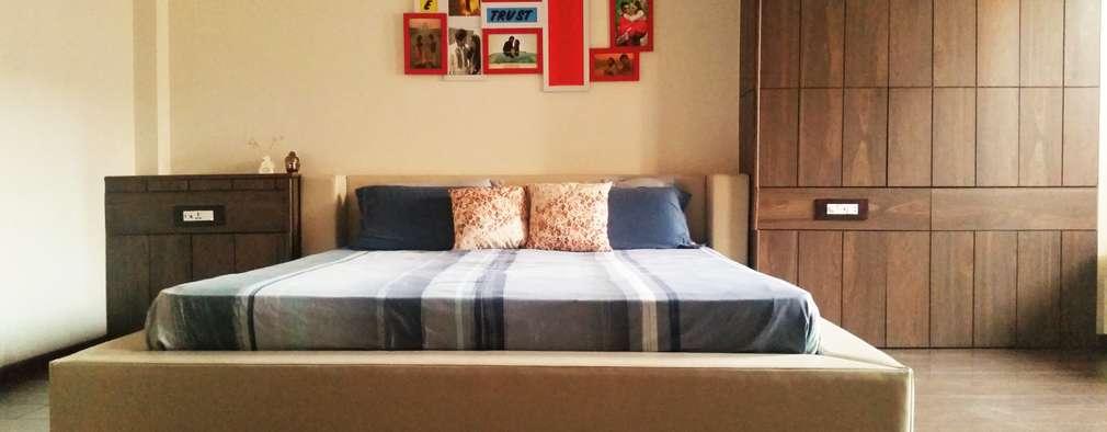 Prateek & Shivangi - Couple Room Interior: modern Bedroom by tcrproject
