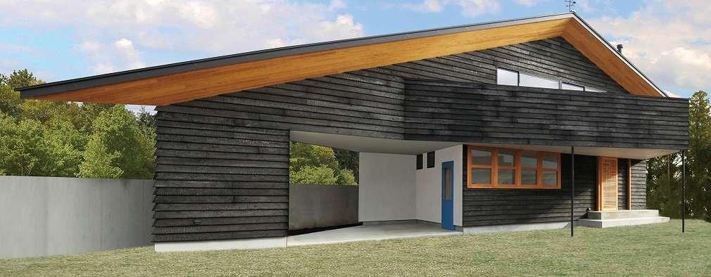 External Apperance(Evening View): STaD(株式会社鈴木貴博建築設計事務所)が手掛けた家です。