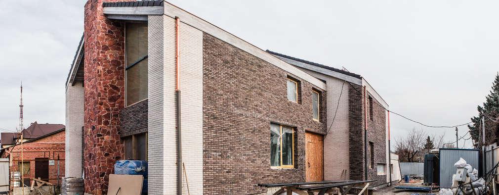 Projekty, skandynawskie Domy zaprojektowane przez Архитектурная студия Чадо