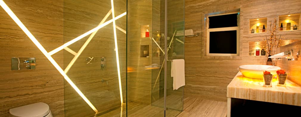 Indra hira bungalow: modern Bathroom by Innerspace