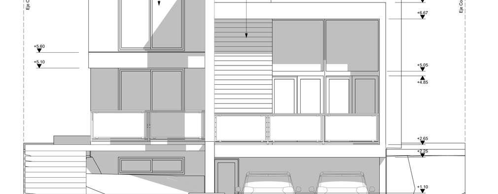 Fachada:  de estilo  por BM3 Arquitectos