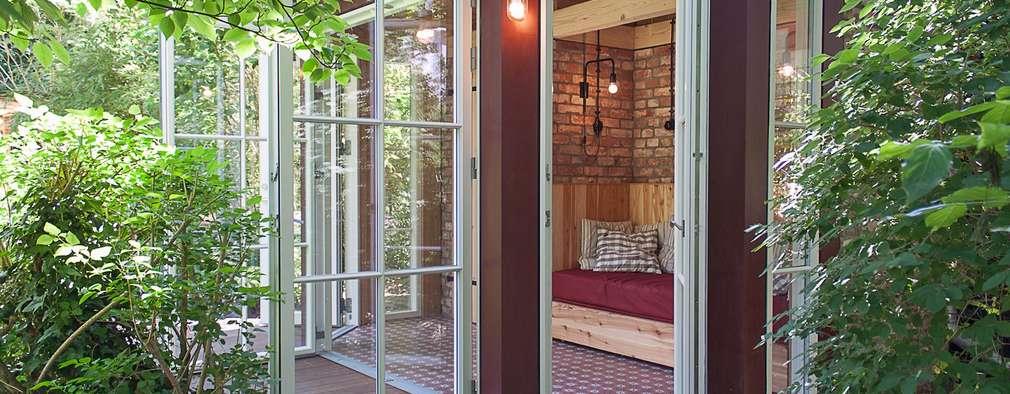 Gartenpavillon – Außenansicht:  Gartenhaus von Lena Klanten Architektin
