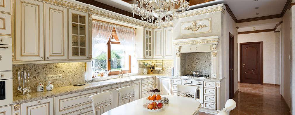«Солнечная Резиденция», Дом в Румболово, 260 м.кв.: Кухни в . Автор – Дизайн элитного жилья   Студия Дизайн-Холл