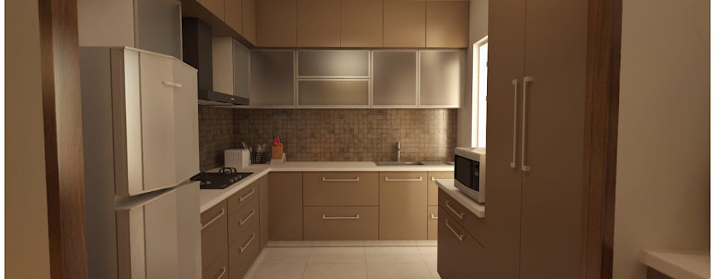 Kitchen: minimalistic Kitchen by Sandarbh Design Studio