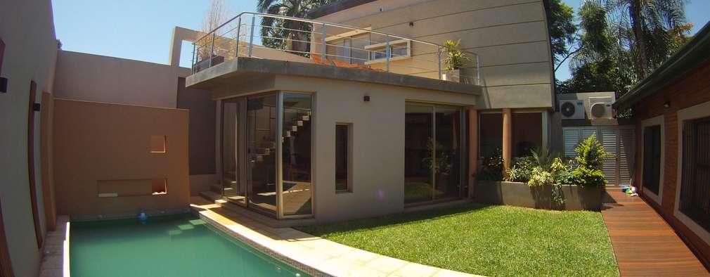 IP - Exterior 1: Casas de estilo moderno por Módulo 3 arquitectura