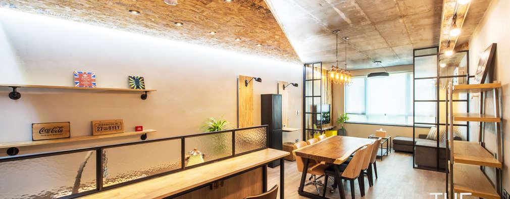 카페처럼 편안한 휴식공간: 더디자인 the dsgn의  서재 & 사무실