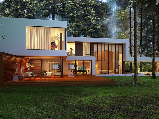 casas de estilo minimalista por aleksandr zhydkov architect