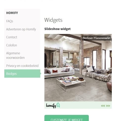 5. Wat is een widget:   door homify help