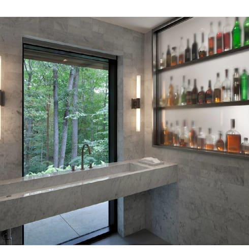 New Canaan Residence:  Bathroom by Specht Architects