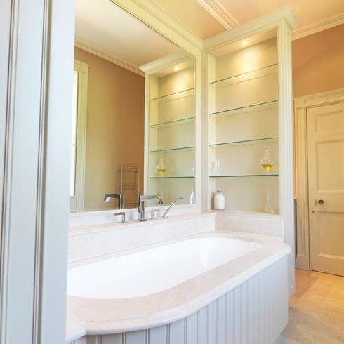 Near Bath, Somerset Guest Bathroom designed and made by Tim Wood:  Bathroom by Tim Wood Limited