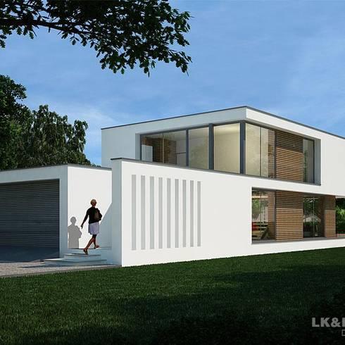 Dieses Modernhaus ist einfach anders.: moderne Häuser von LK&Projekt GmbH