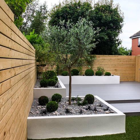 minimalistischer Garten von Yorkshire Gardens