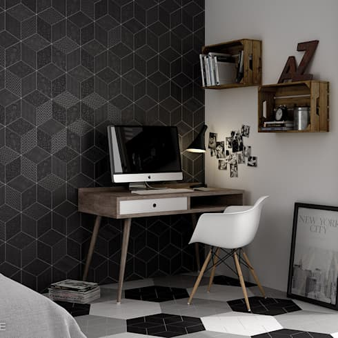 como criar um home office em casa. Black Bedroom Furniture Sets. Home Design Ideas