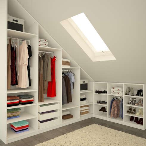 Begehbarer kleiderschrank dachschräge beleuchtung  Der Traum vom begehbaren Kleiderschrank
