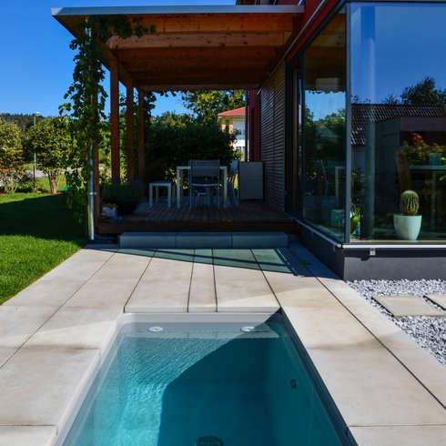 15 albercas no muy grandes que te van a encantar para tu patio for Mini albercas