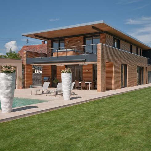 Privathaus Schutterwald: moderne Häuser von Grossmann Architekten