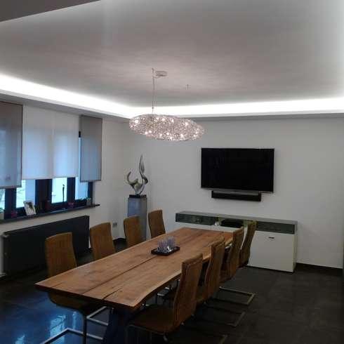 Villa L In Saarbrücken : Moderne Esszimmer Von Bolz Planungen Für Licht Und  Raum