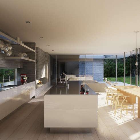 minimalistische Küche von Strom Architects