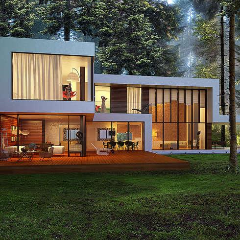 minimalistische Häuser von  Aleksandr Zhydkov Architect