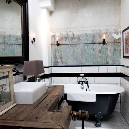 industrial Bathroom by BRICKS Studio
