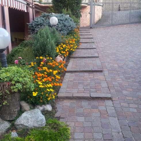 Jardines y patios 10 ideas con adoquines sensacionales for Arreglo de jardines con piedras
