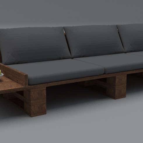 Designer Sofa   Upcycling Loft Design   Für Innen  Und Außenbereich:  Industriale Wohnzimmer Von