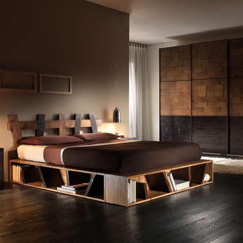 Idee per un letto con le mensole