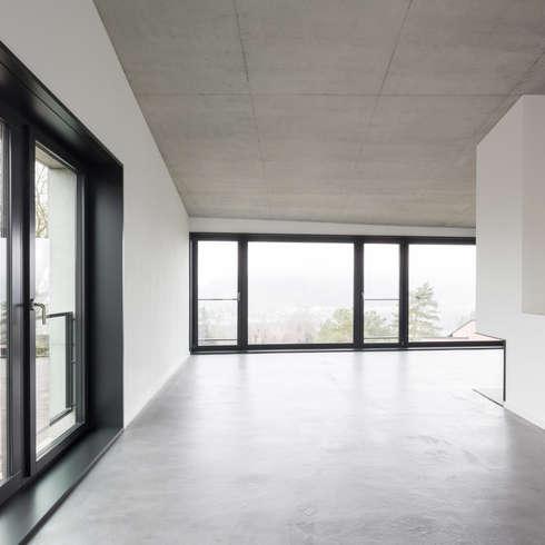 Einfamilienhaus Brunnaderenstrasse / CH-8193 Eglisau: moderne Wohnzimmer von Jäger Zäh Architekten