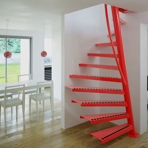 modern Corridor, hallway & stairs تنفيذ EeStairs | Stairs and balustrades