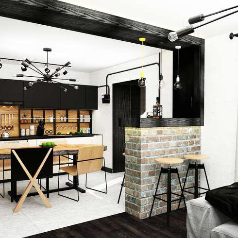 10 barras de cocina tipo bar espectaculares for Barra estilo industrial