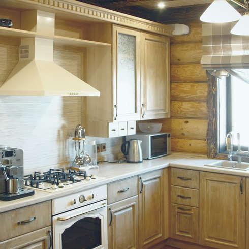 Minimalistisch antiek keukens in shaker stijl - Studio stijl glazen partitie ...
