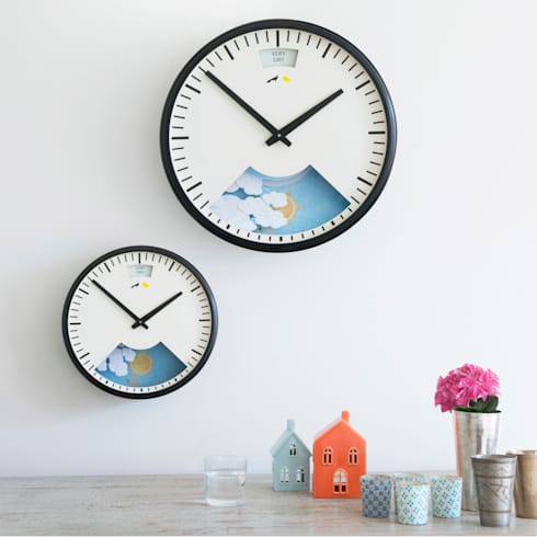Lovebird barometer clocks : modern Kitchen by Loaf