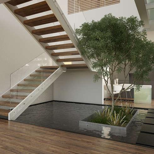 Corridor & hallway by 21arquitectos