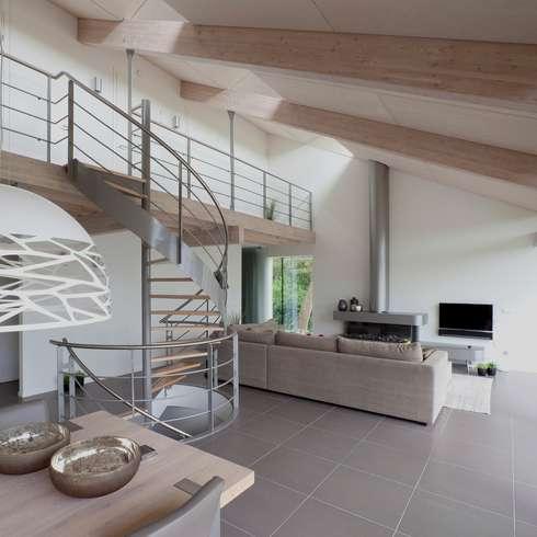 Woonhuis Oostkapelle: moderne Woonkamer door adsmeuldersarchitect