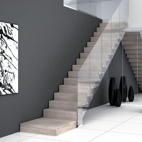 minimalistic Corridor, hallway & stairs by Grana Scale