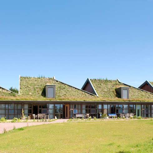 Voorgevel: landelijke Huizen door stripesarchitects