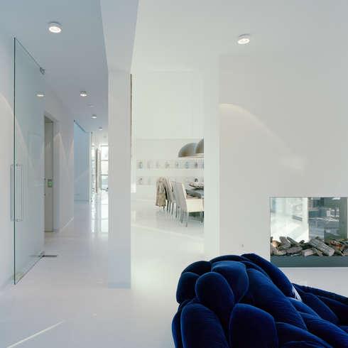 Villa in Limburg : moderne Woonkamer door Engelman Architecten BV