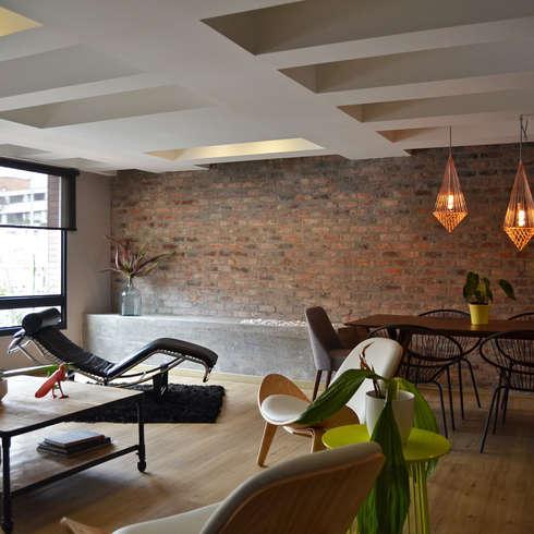 eclectische Woonkamer door santiago dussan architecture & Interior design