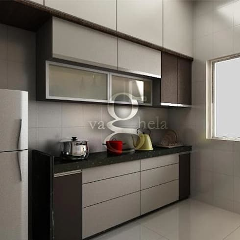 Kitchen: Modern Kitchen By Vaghela Interiors